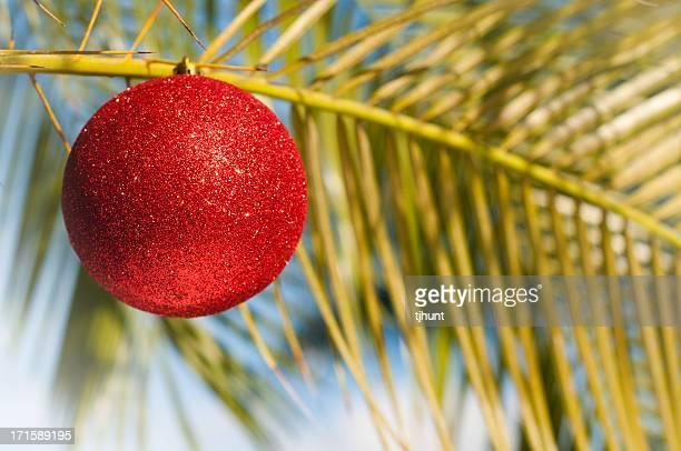 Tropical Christmas - palm tree ornament