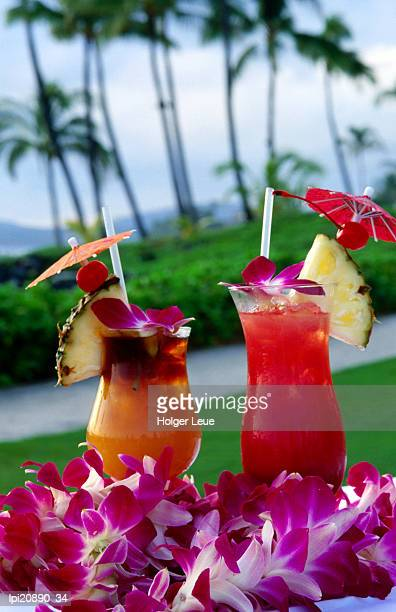 tropical cocktails, poipu, united states of america - travel14 stock pictures, royalty-free photos & images