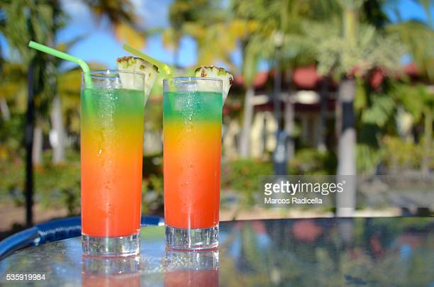 tropical colorful drinks - radicella stock pictures, royalty-free photos & images
