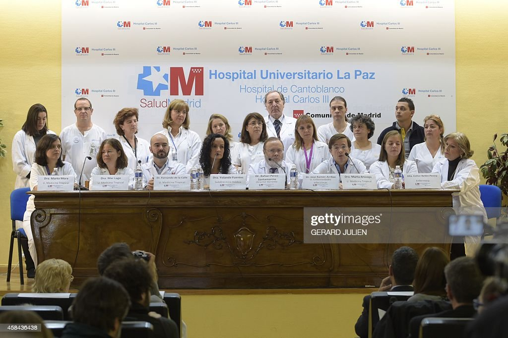SPAIN-HEALTH-WAFRICA-EBOLA-ROMERO : News Photo