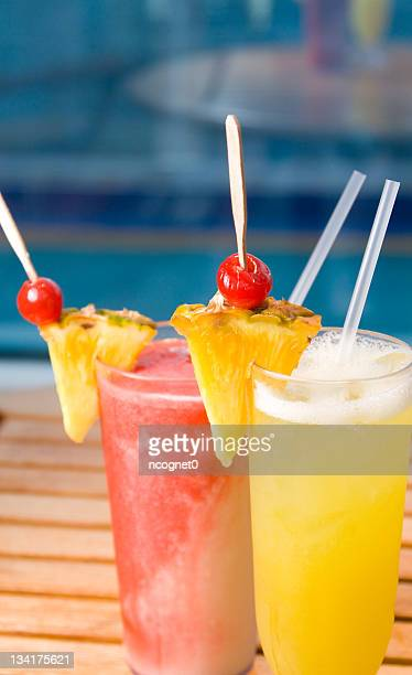 Tropical drinks on a cruise ship