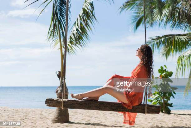 tropical escape - sarong stock photos and pictures