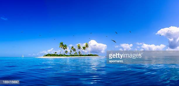 tropical fantasy island in the caribbean sea - island stock pictures, royalty-free photos & images