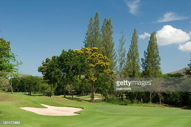 tropical golf course in thailand - hua hin thailand stock pictures, royalty-free photos & images