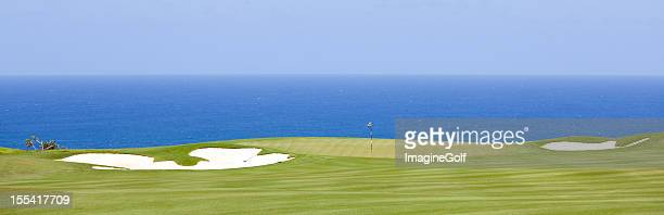 tropical golf course panorama - hawaii flag stock pictures, royalty-free photos & images