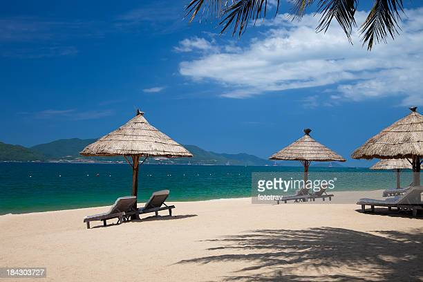 Tropical holidays on Nha Trang beach, Vietnam