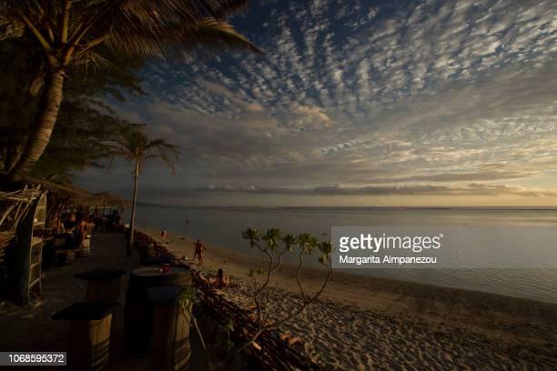 Tropical idyllic beach at Reunion Island