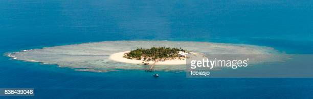 tropical island in fiji - western division fiji stock photos and pictures