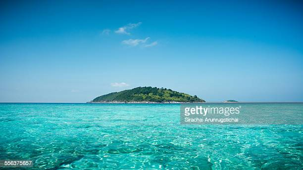 Tropical island with blue sea and clear sky