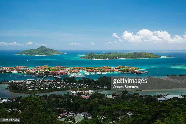 tropical islands and luxury development on mahe - capital cities stock pictures, royalty-free photos & images