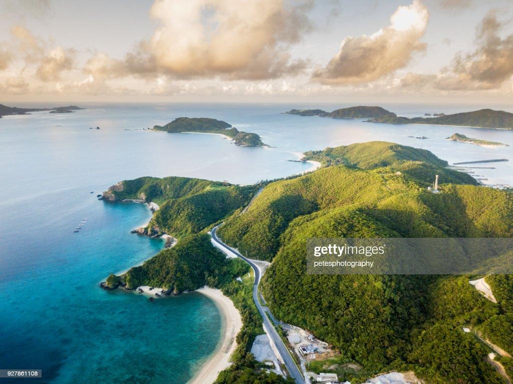 Tropische eilanden van bovenaf : Stockfoto