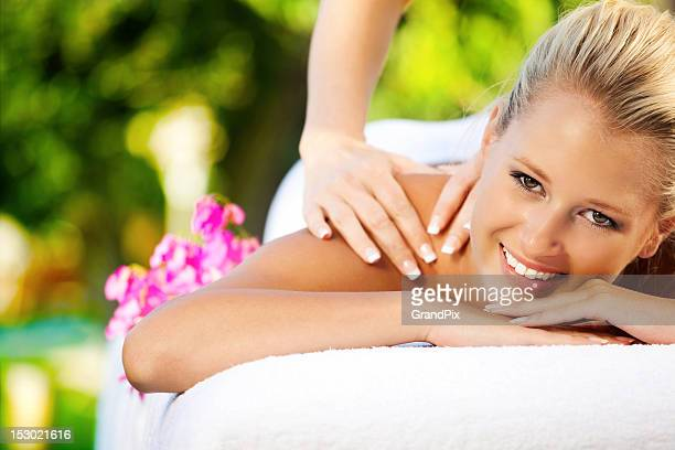 tropical massage - thai massage stock photos and pictures