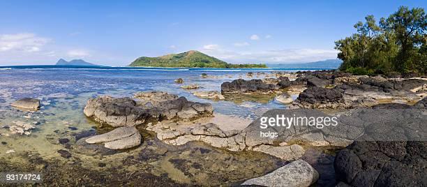 tropical panorama, vanuatu - vanuatu stock photos and pictures
