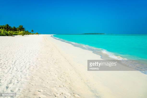 Tropical paradise at Dhiffushi Holiday island, South Ari atoll, Maldives