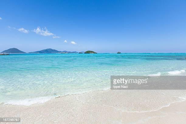 Tropical paradise beach on deserted coral island