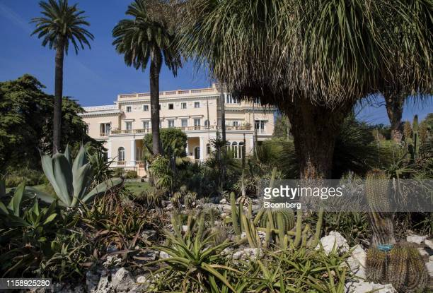 Tropical plants grow in the private gardens at the Villa Les Cedres a 187yearold000squarefoot 14bedroom mansion set on 35 acres in SaintJeanCapFerrat...