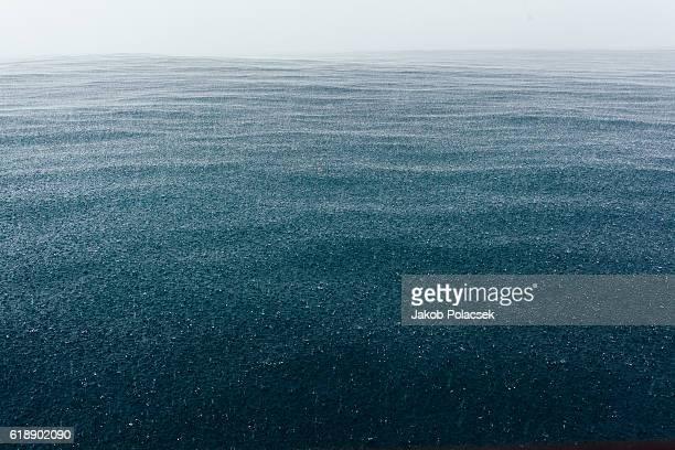 Tropical Rain drops on the Ocean Surface