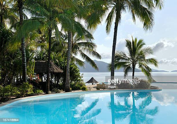 tropical resort - whitsunday island stock photos and pictures
