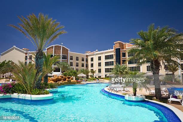 Tropical Resort Swimming Pool in the Caribbean