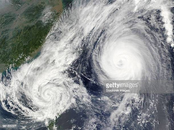 Tropical Storm Parma and Super Typhoon Melor.