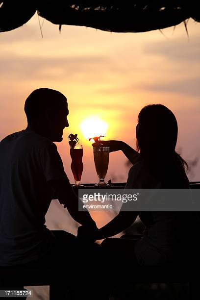 Tropical sunset drinks.
