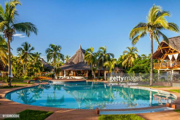 tropical swimming pool - tourist resort stock pictures, royalty-free photos & images