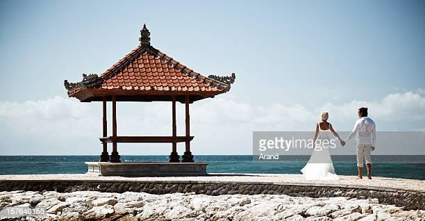 matrimonio tropicale - viaggio di nozze foto e immagini stock