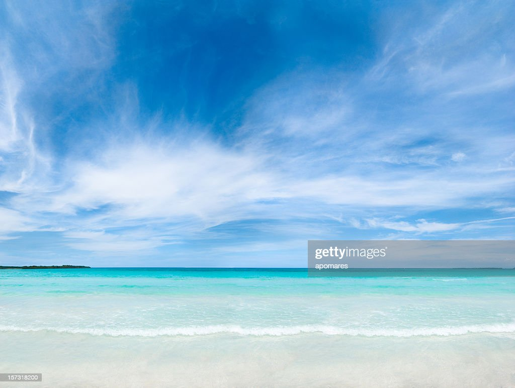 Tropical white sand beach : Stock Photo