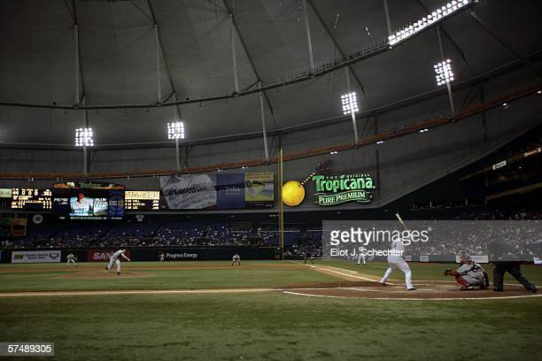 Tropicana Field is shown during a game between the Tampa Bay Devil Rays and the Boston Red Sox on April 28 2006 at in St Petersburg Florida