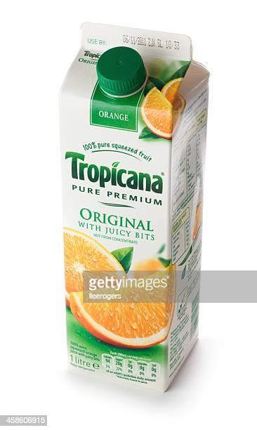 Tropicana original orange juice drink carton