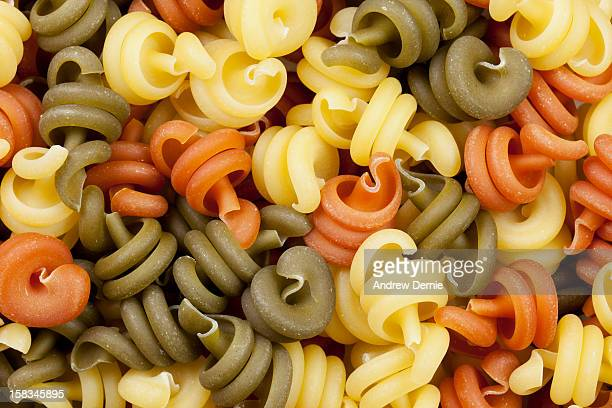 trottole tricolore pasta - andrew dernie stock pictures, royalty-free photos & images