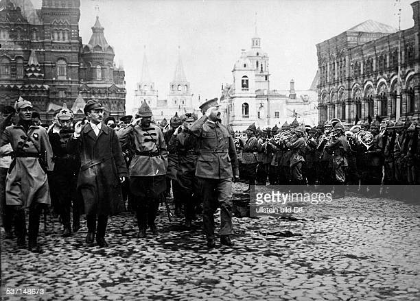 Trotzki Leo Politician Russia Trotzki during a military parade in honour of the 3rd Congress of the Communist International on the Red Square ca 1920...