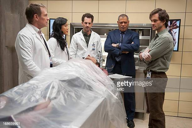 HANNIBAL Trou Normand Episode 109 Pictured Scott Thompson as Jimmy Price Hettienne Park as Beverly Katz Aaron Abrams as Brian Zeller Laurence...
