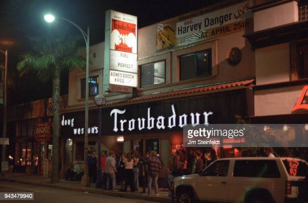 Troubadour marquee for Tommy Stinson's band Perfect in Los Angeles, California on April 24, 1998.