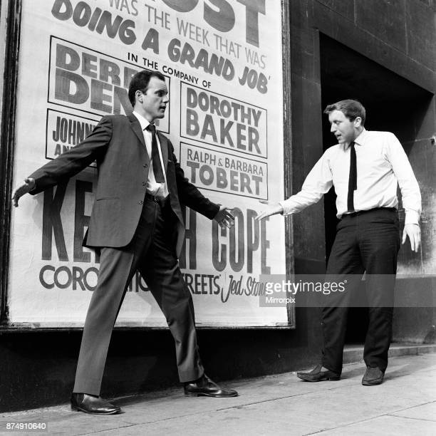 Trouble at the Empire Theatre Liverpool where David Frost and Kenneth Cope are appearing After playing 'conkers' with ice lollies Frost saw the size...