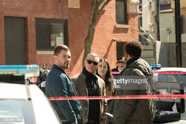 "Trouble Dolls"" Episode 813 -- Pictured: Patrick John Flueger as Adam Ruzek, Jason Beghe as Hank Voight, Marina Squerciati as Kim Burgess --"