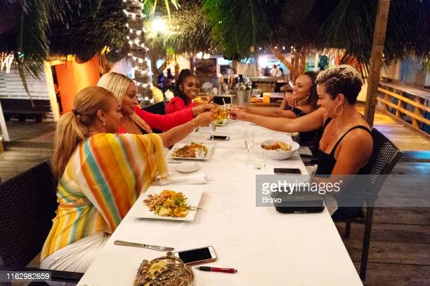 """Trouble in Paradise"""" Episode 416 -- Pictured: Gizelle Bryant, Karen Huger, Candiace Dillard Bassett, Ashley Boalch Darby, Robyn Dixon --"""