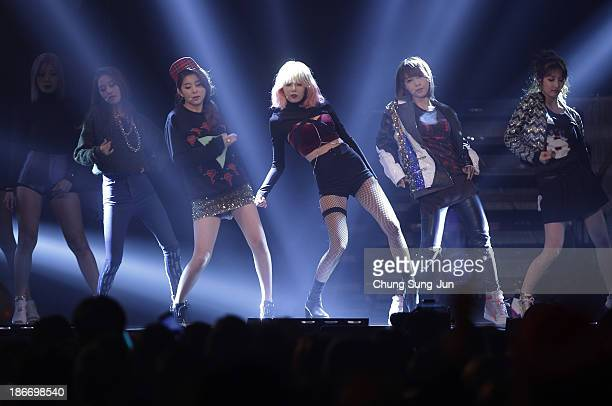 Trouble Maker perform on stage during Youtube Music Awards 2013 at Kintex Hall on November 3, 2013 in Seoul, South Korea.