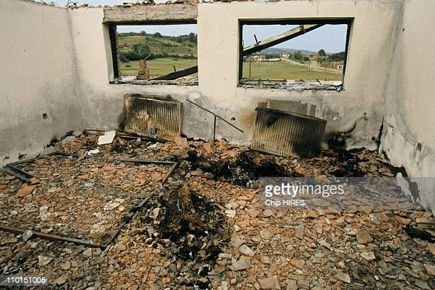 Troubles in Yugoslavia in June 1999 Four bodies burnt in a house