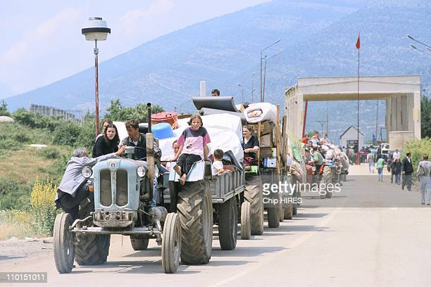 Troubles in Yugoslavia in June 1999 Kosovo returning home
