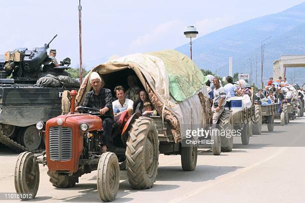 Troubles in Yugoslavia in June, 1999 - Kosovo returning home.
