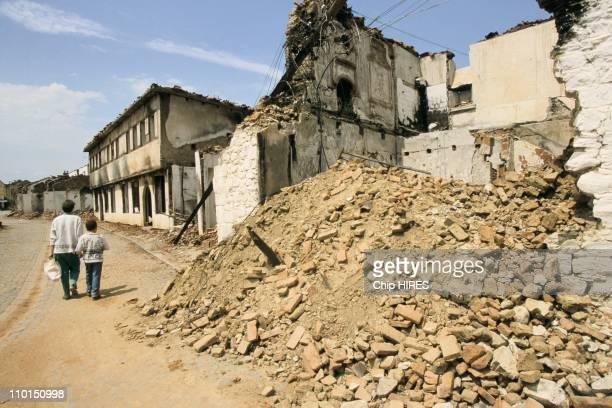 Troubles in Yugoslavia in June, 1999 - Old town of Djakovica.