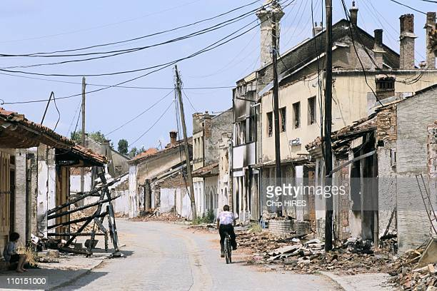 Troubles in Yugoslavia in June, 1999 - Old town of Djakovica.