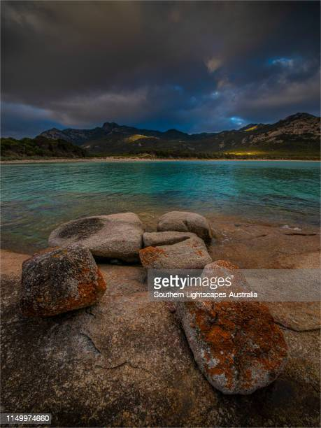 trouser's point, flinders island, bass strait, tasmania. - bass strait stock pictures, royalty-free photos & images