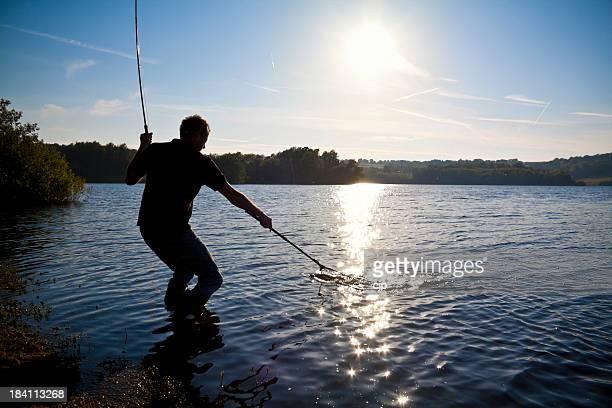 マス Flyfishing シーフードレイク銀行