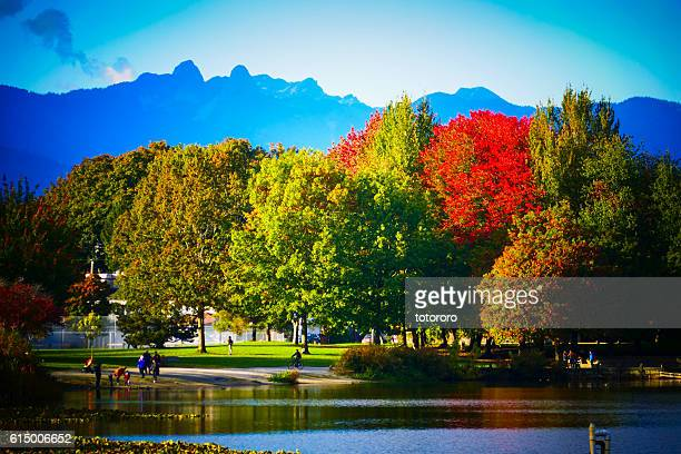 Trout Lake Park in Autumn in Vancouver BC Canada