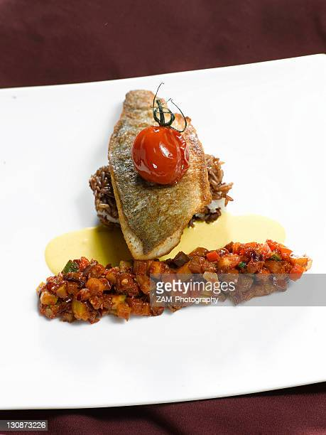 Trout with vegetable ratatouille