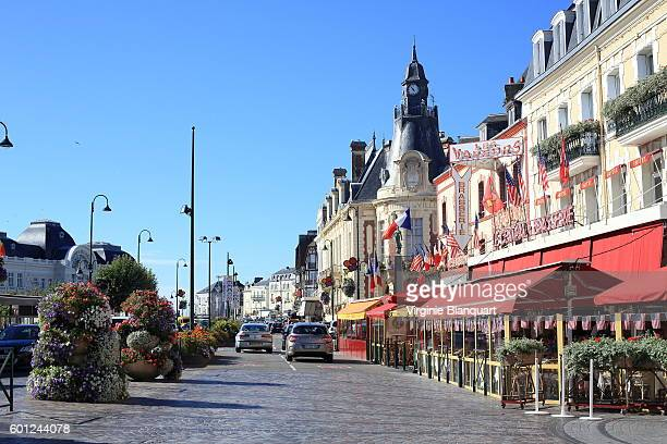 trouville sur mer, normandy on a sunny day. 07 september 2016 - trouville sur mer stock pictures, royalty-free photos & images