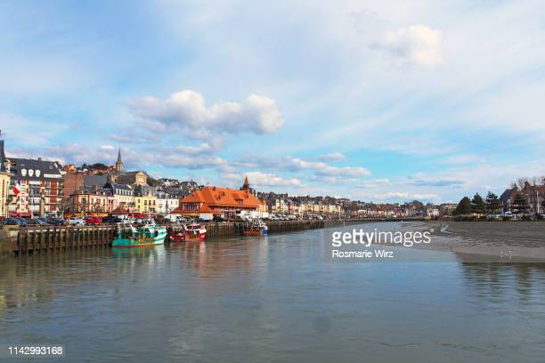 trouville-sur-mer waterfront - trouville sur mer stock pictures, royalty-free photos & images