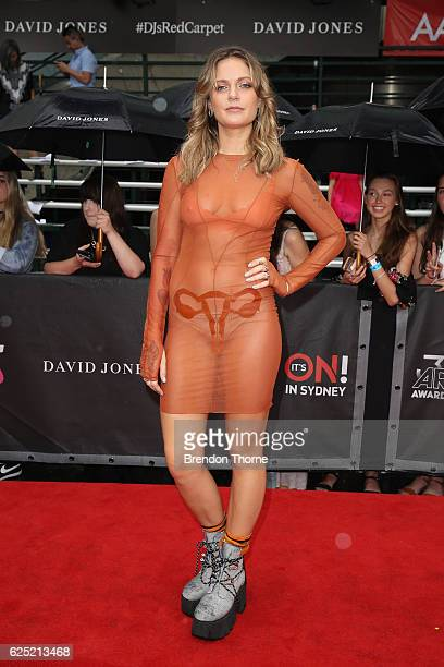 Trove Lo arrives for the 30th Annual ARIA Awards 2016 at The Star on November 23 2016 in Sydney Australia
